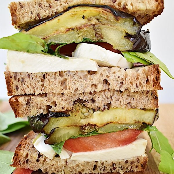 Grilled Eggplant and Arugula Caprese + 5 Ways to Upgrade Your Sandwich