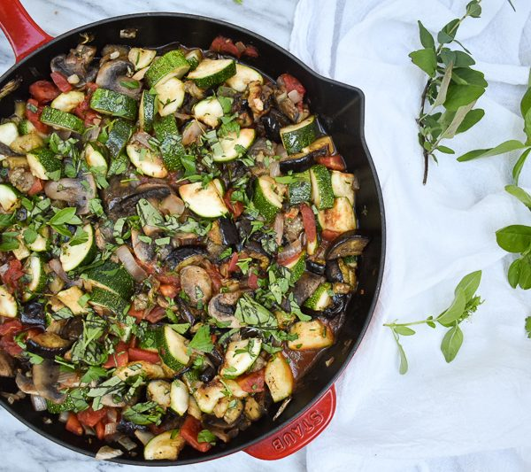 Grilled Summer Vegetable Ratatouille