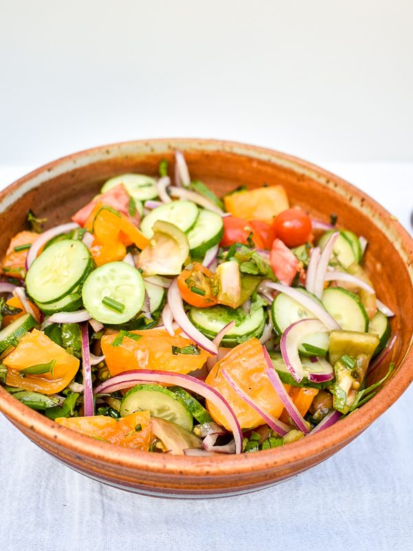 The Simplest Late Summer Salad