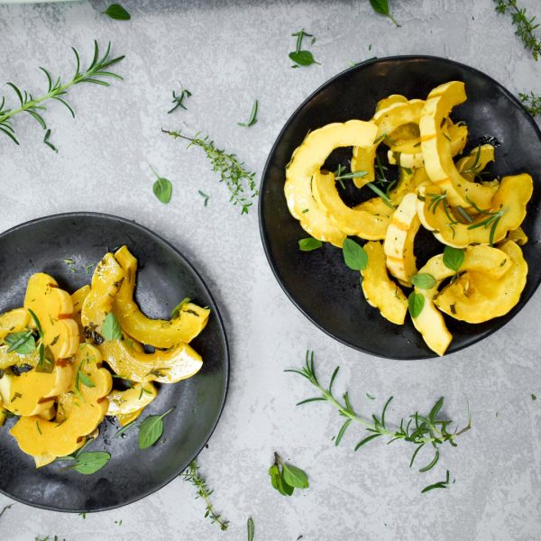 Fall Herb Roasted Delicata Squash