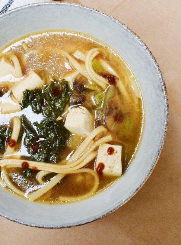 Instant Pot Miso Ginger Udon Noodle Soup