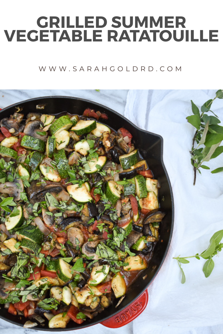 Grilled veg ratatouille