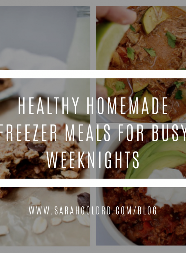 Healthy Homemade Freezer Meals for Busy Weeknights