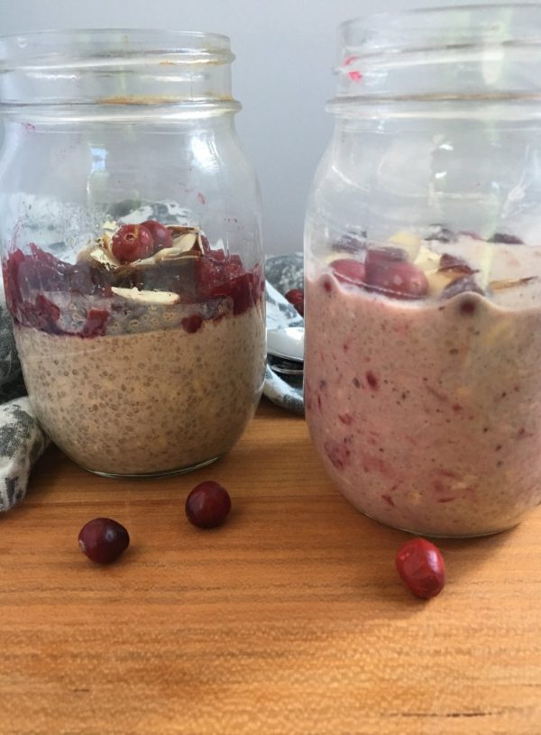 Cranberry Chia Overnight Oats