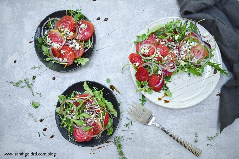 chioggia beets with arugula and gorgonzola.jpg