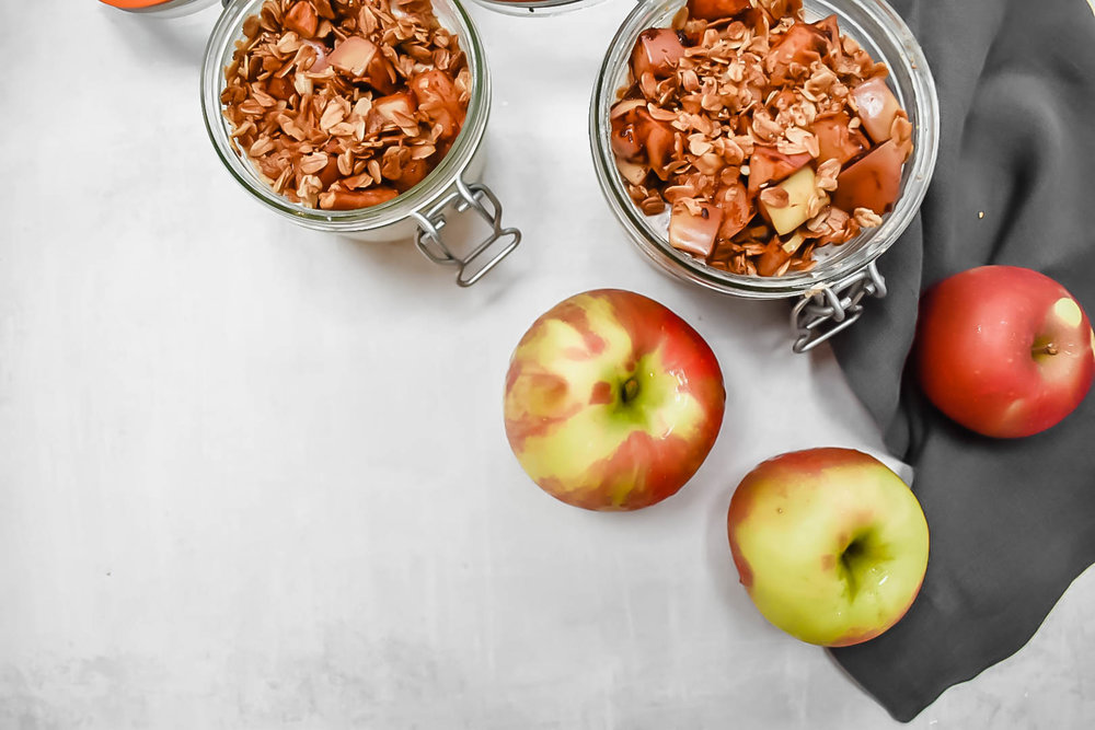 fall apple pie overnight oats