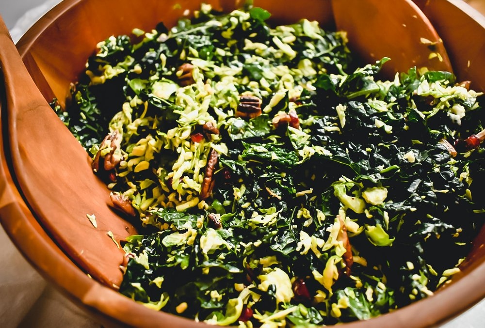 kale and Brussels sprout salad with lemon tahini dressing.jpg