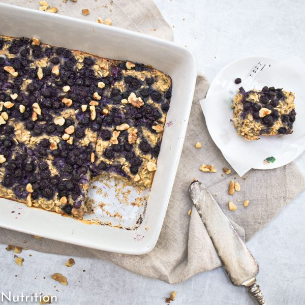 Easy Make-Ahead High Protein Baked Oatmeal