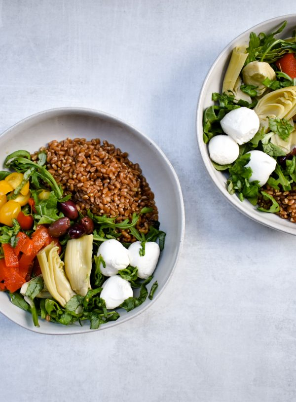 Wheat Berry Caprese Grain Bowl