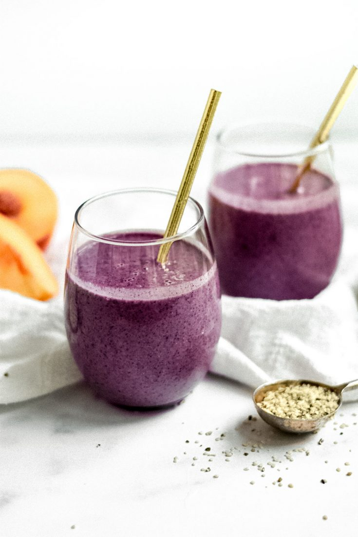 Wild Blueberry Peach and Zucchini Smoothie